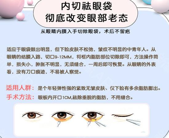 华仁韩式内切式祛眼袋 世界那么大 只想让你更美