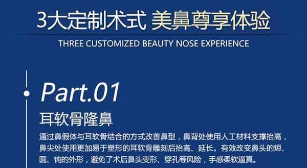 台州韩辰肋骨隆鼻 立体设计美丽小翘鼻 塑形稳固 鼻型持久美丽