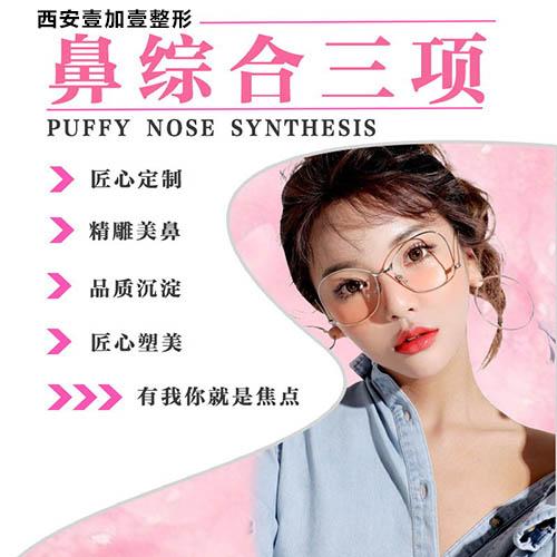 鼻部整形鼻综合整形西安壹加壹医疗美容医院王俊河优惠手术的封面