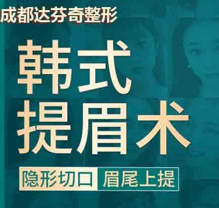 眼部整形提眉成都达芬奇医疗美容王小彦优惠手术的封面