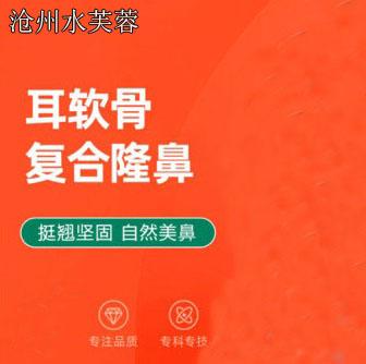 鼻部整形自体耳软骨垫鼻尖沧州水芙蓉医疗李永俊优惠手术的封面