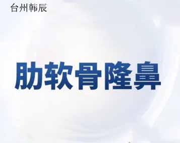 鼻部整形隆鼻台州韩辰刘星宇优惠手术的封面